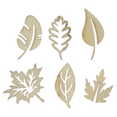 Leaves Wood Shapes