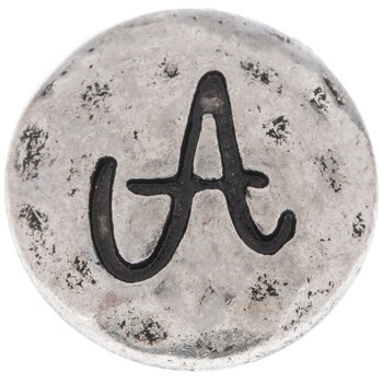 Hammered Letter Mini Snap Charm