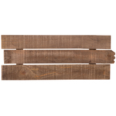 Rectangular Slatted Pine Wood Panel