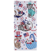 4th Of July Cat Kitchen Towel