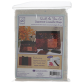 Quilt As You Go Zipper Cosmetic Bags Batting