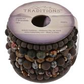Brown & Purple Beaded Bracelet Spool