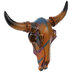 Painted Bull Skull Wall Decor - Small