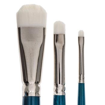 White Nylon Scrubber Paint Brushes - 3 Piece Set