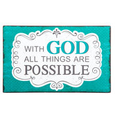 With God All Things Are Possible Wood Decor