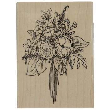 Floral Bouquet Rubber Stamp