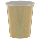Holographic Gold Paper Cups