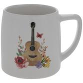 Dolly Parton Floral Guitar Mug