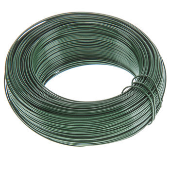 Green Enamel Coiled Floral Annealed Wire