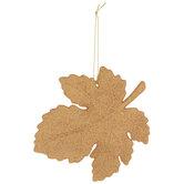 Glitter Leaf Ornaments