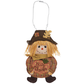 Give Thanks Scarecrow Wall Decor
