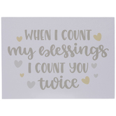 Count My Blessing Wood Wall Decor