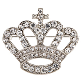 Crown Rhinestone Brooch