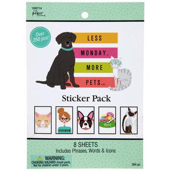 Less Monday More Pets Stickers