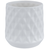 White Diamond Pattern Pot
