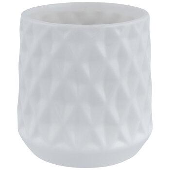 White Diamond Pattern Pot