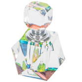 Faceted Glass Perfume Bottle