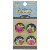 Multi-Color Rhinestone Shank Buttons - 20mm