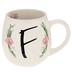 Floral Letter Mug - F