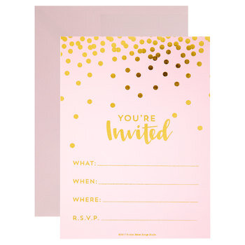 You're Invited Confetti Invitations