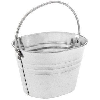 Galvanized Metal Ridged Oval Bucket