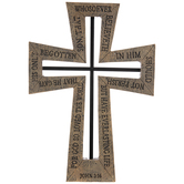 John 3:16 Outline Cutout Wall Cross