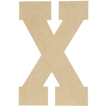 "Wood Letter X - 13"""