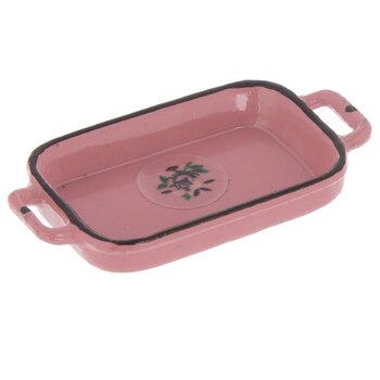 Miniature Pink Metal Baking Tray