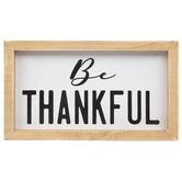 Be Thankful Wood Decor