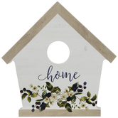 Home Floral Birdhouse Wood Decor