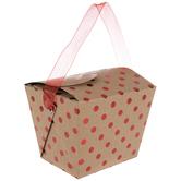 Kraft & Red Foil Polka Dot Take Out Boxes