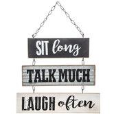 Sit, Talk & Laugh Metal Wall Decor