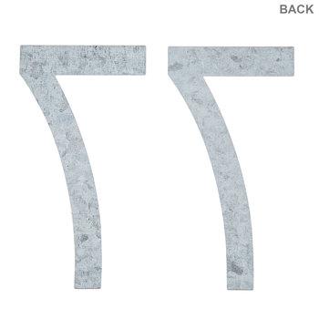 "Galvanized Metal Numbers 7 - 4"""
