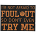 Foul Out Wood Decor