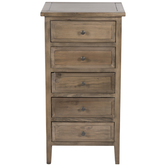 Olive Brown Wood Cabinet