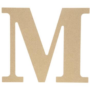 """Wood Letter M - 9 1/2"""""""