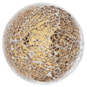Gold Mosaic Decorative Sphere