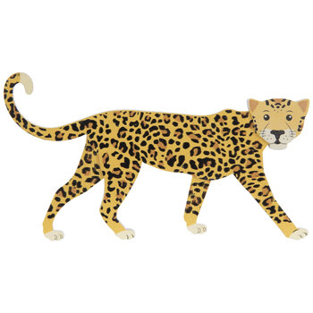 Cheetah Painted Wood Shape