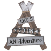 Let's Go On An Adventure Triangle Wood Wall Decor