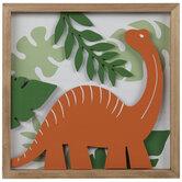 Dinosaur & Leaves Wood Wall Decor
