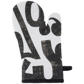 Black & White Punctuation Oven Mitt