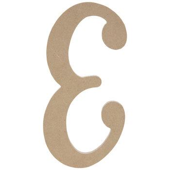"""Uppercase Script Wood Letter E - 6"""""""