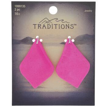 Neon Pink Teardrop Pendants