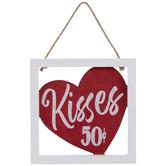 Kisses 50 Cents Wood Wall Decor