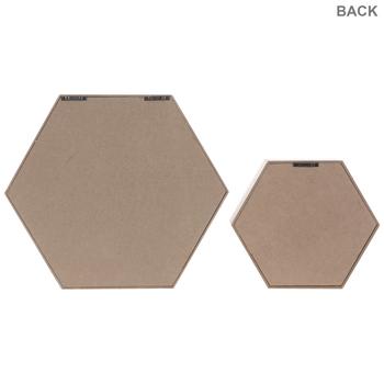 Gray & White Hexagon Wood Wall Shelf Set