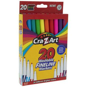 Cra-Z-Art Washable Fineline Markers - 20 Piece Set
