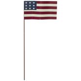 Waving American Flag Metal Pick