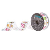 Cupcakes & Sprinkles Single-Face Grosgrain Ribbon -  1 1/2""