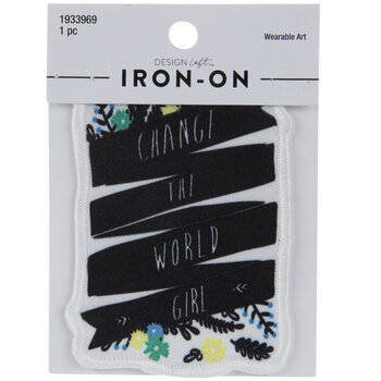 Change The World Girl Iron-On Applique
