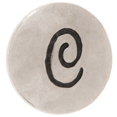 Hammered Alphabet Snap Charm - C